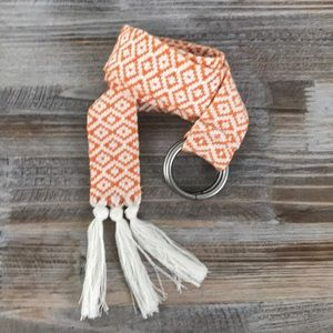 Accessories - Boho Orange & White Belt
